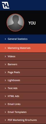 idevaffiliate marketing menu